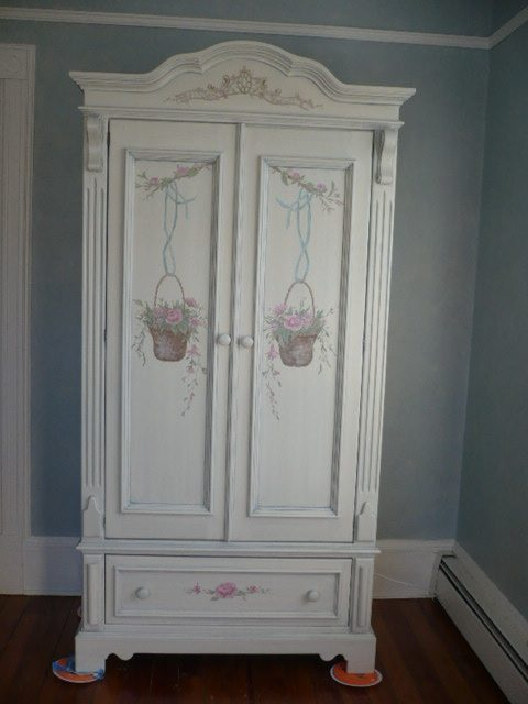 Armoire- Hand painted- hand painted Armoire- Children's room
