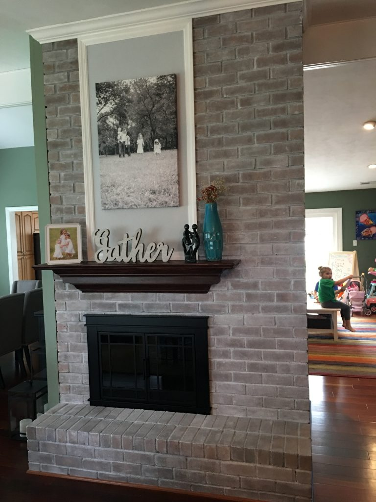White Washed Fireplace- White Wash- Lime wash- Fireplace finishes