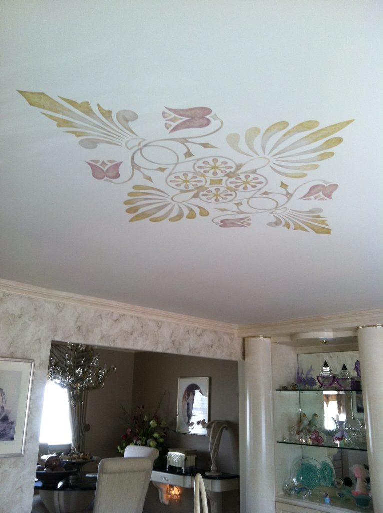 Art Deco- Ceiling- Stencil