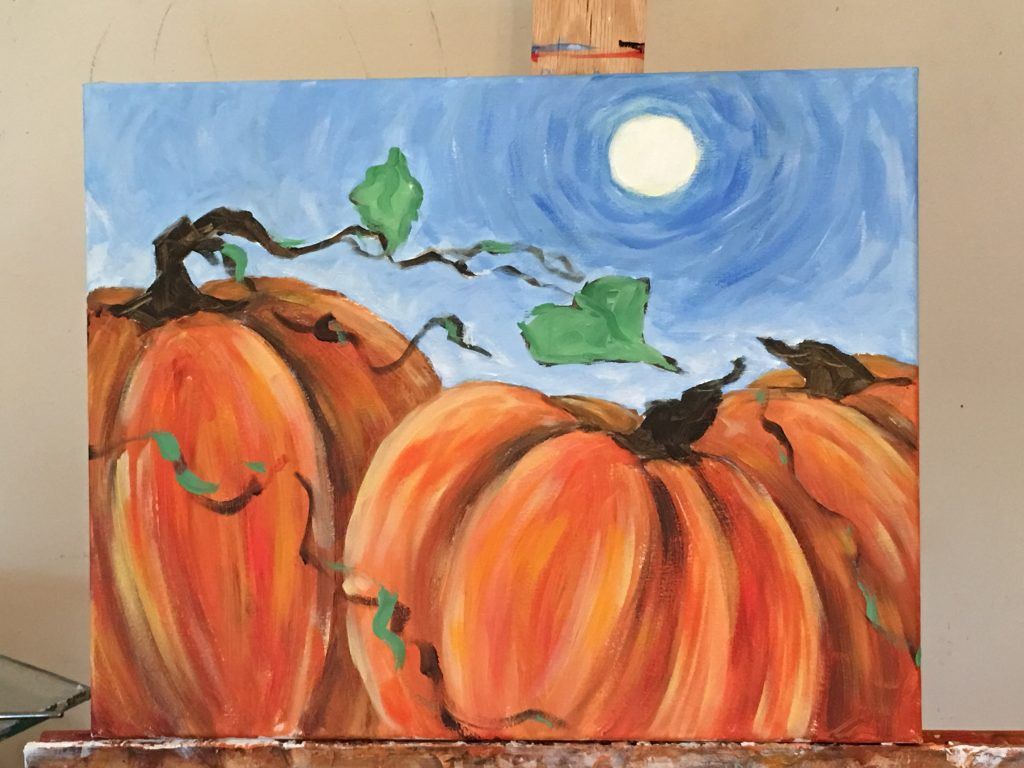 Fall theme for Paint party- pumpkin Painting- fall painting