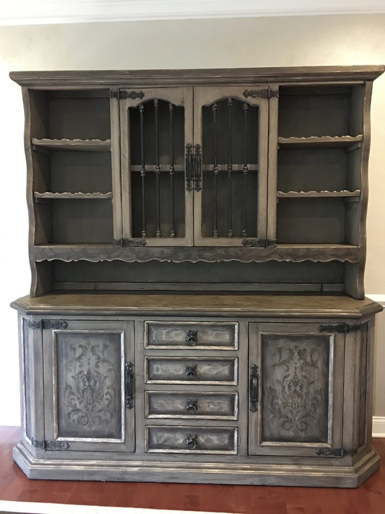 Refinished Furniture - Gilded Accents - Hand Painted detail on furniture - Annie Sloan Chalk Paint