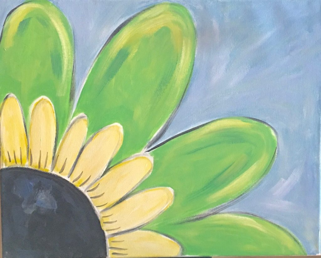 Flower painting- paint party