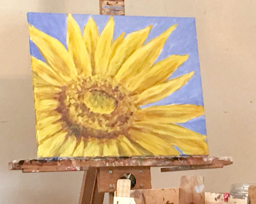 Sunflower painting for paint Party