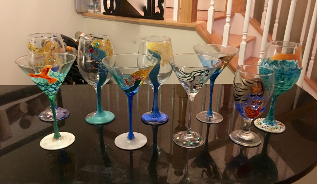 Paint Party- wine glass painting -martini glass painting