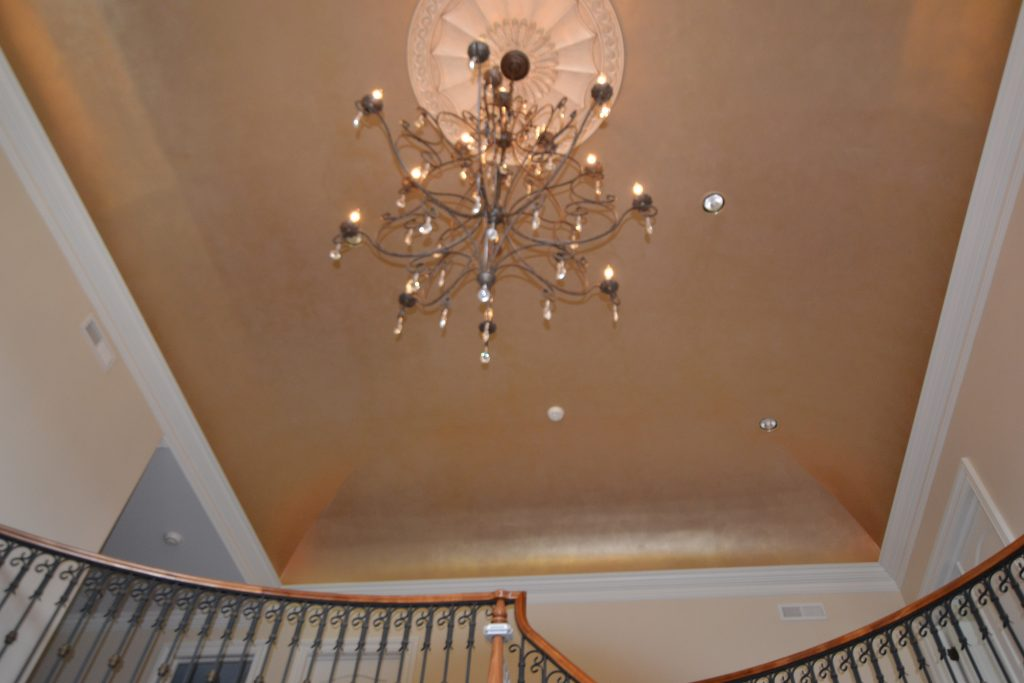 Gold Ceiling-Vaulted Ceiling