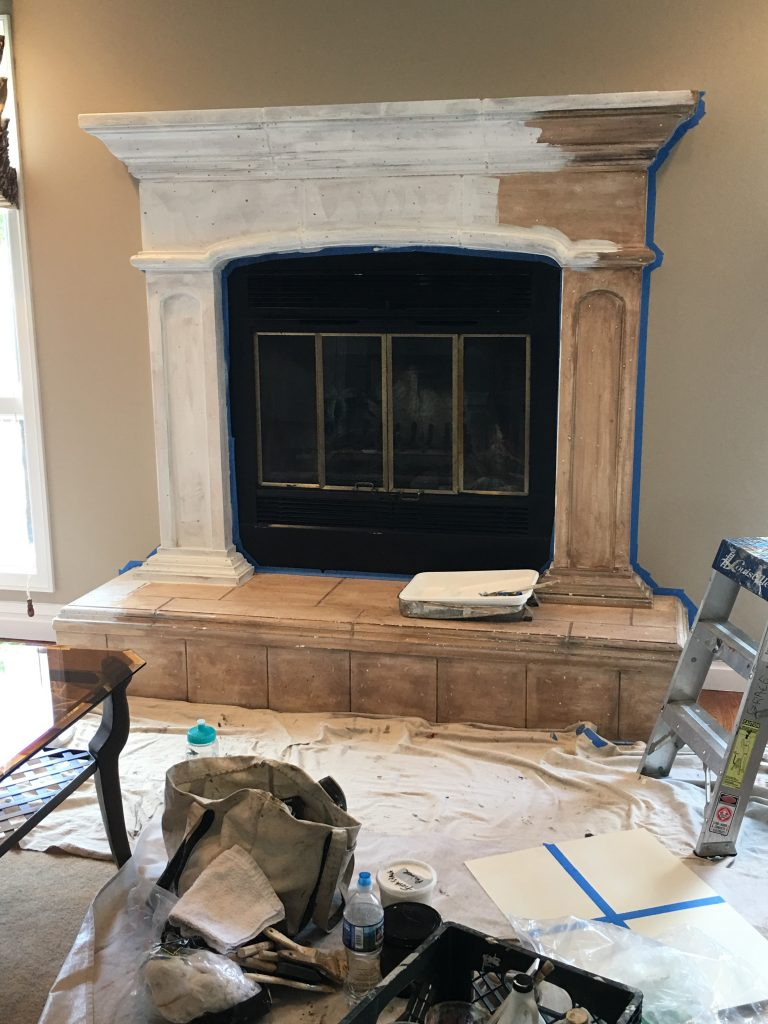 Fireplace  in process