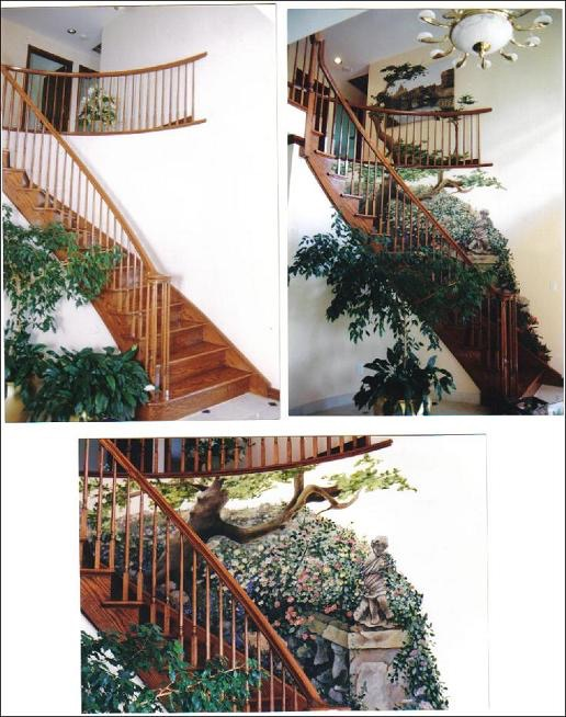 Mural up staircase - staircase design