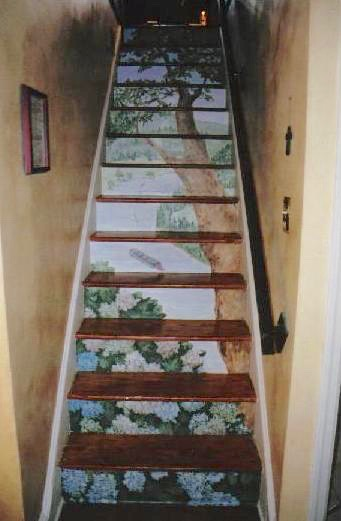 Staircase mural- Stair Risers Painted