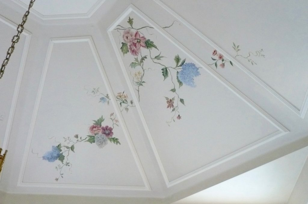 Vaulted Ceiling- Hand Painting-Sun Room-Kithen
