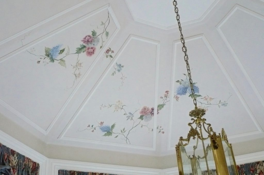 Floral Painting- Vaulted Ceiling- Kitchen Ceiling- Sun Room