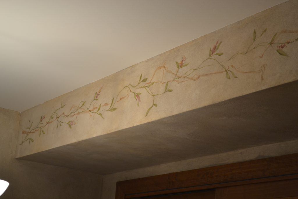 Stone finish-hand painting