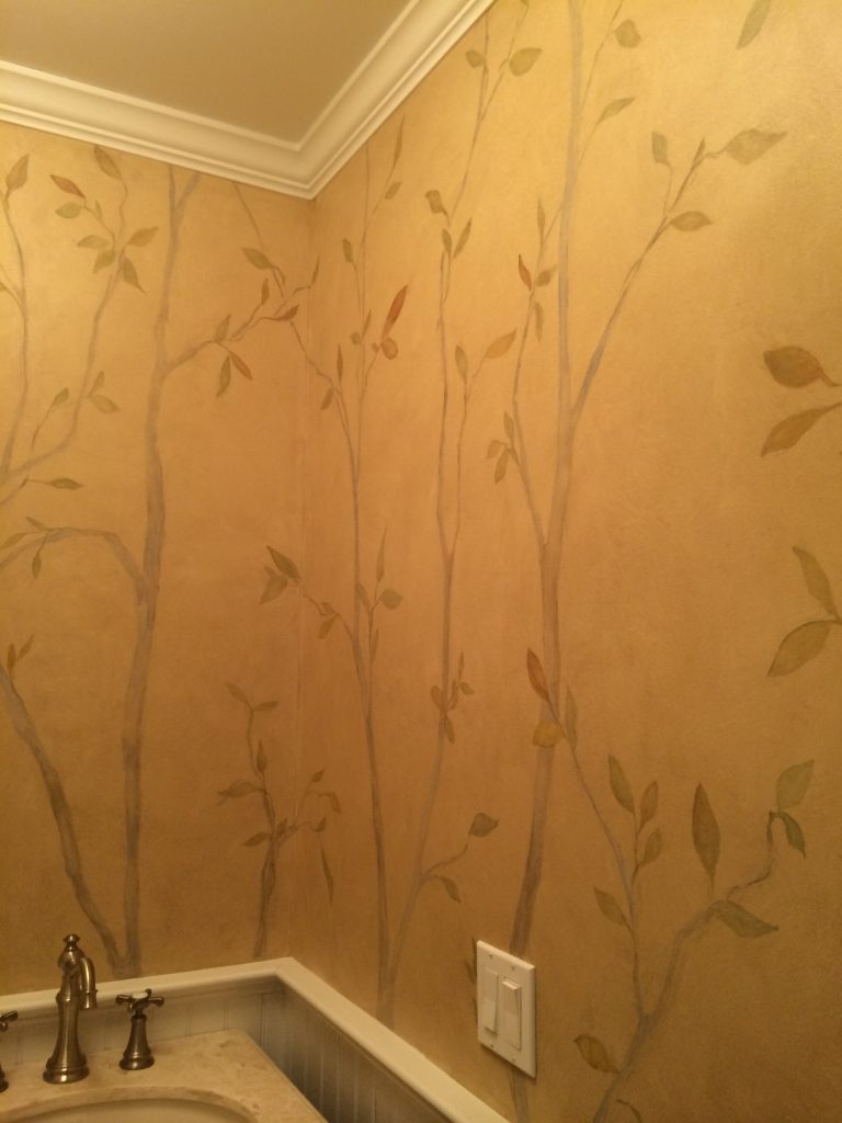 Bathroom design-Hand painting