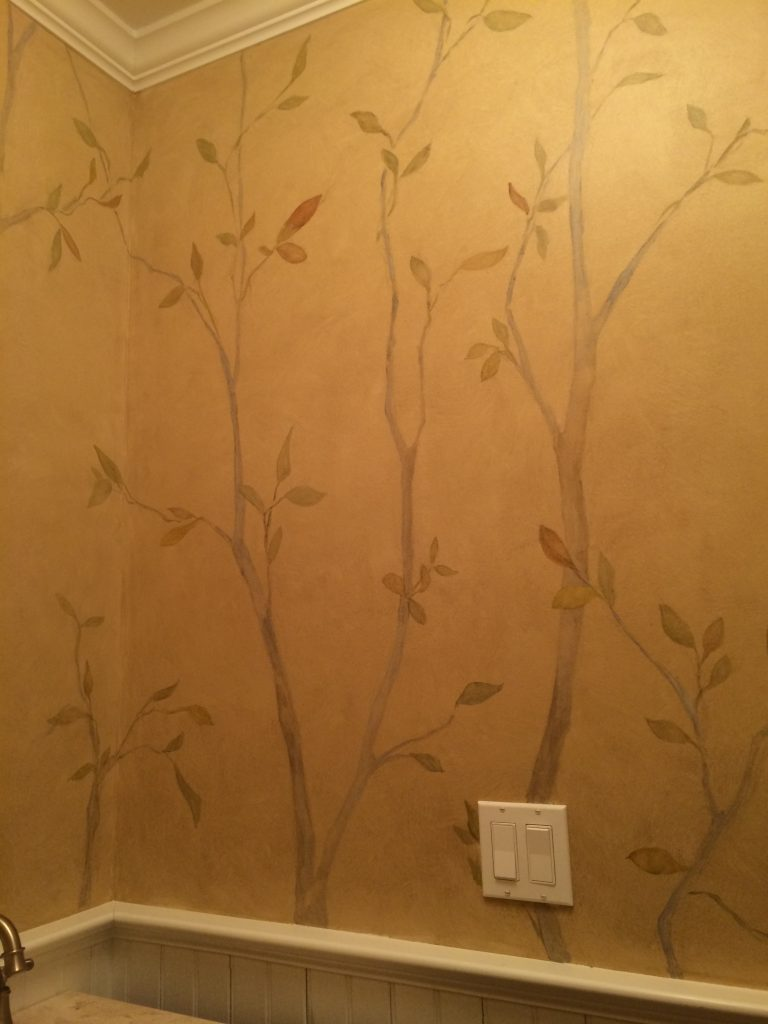 Tree design-bathroom-Faux-Glaze